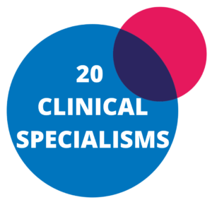 SHS Partners 20 clinical specialisms