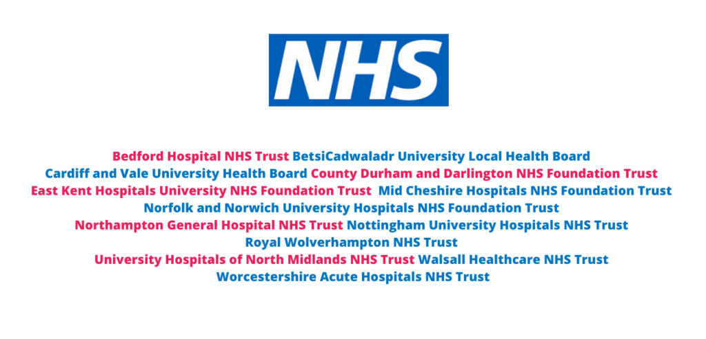 SHS Partners List of NHS Clients